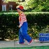 Clown pulling a wagon